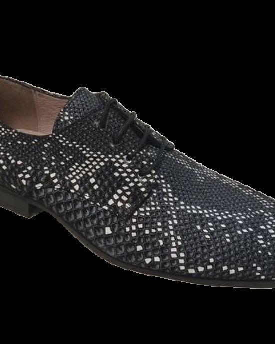 Sapato Cobra Preto e Branco